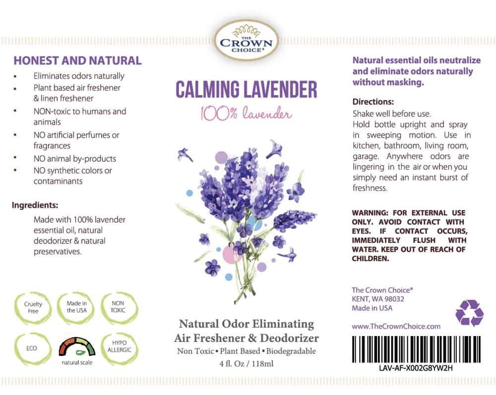 Lavender Air Freshener Aromatherapy Spray – Long-Lasting, Natural, Non aerosol 7