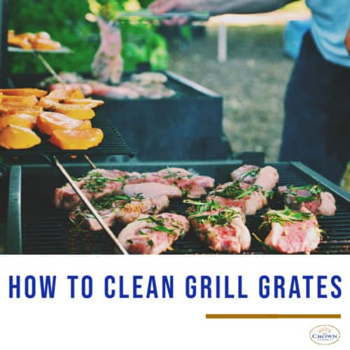 different food cooked on grill grates and how to clean grill grates immediately after