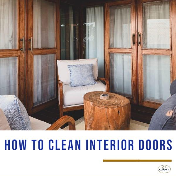 how to clean interior door
