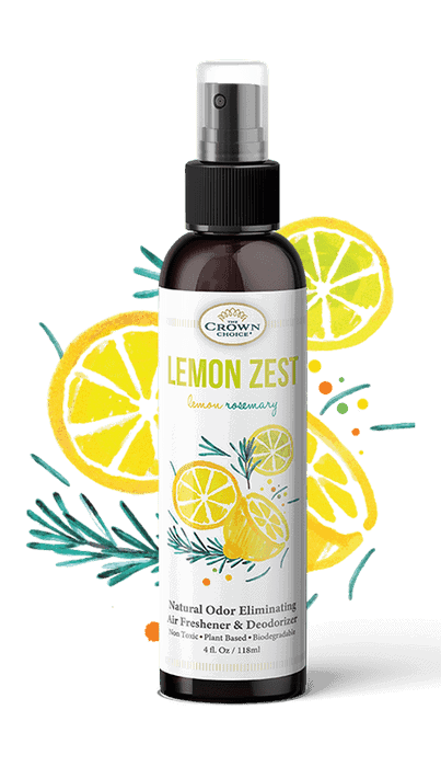 Natural Air Freshener – Non-toxic, liquid spray for home and bathroom (LEMON ZEST) 2