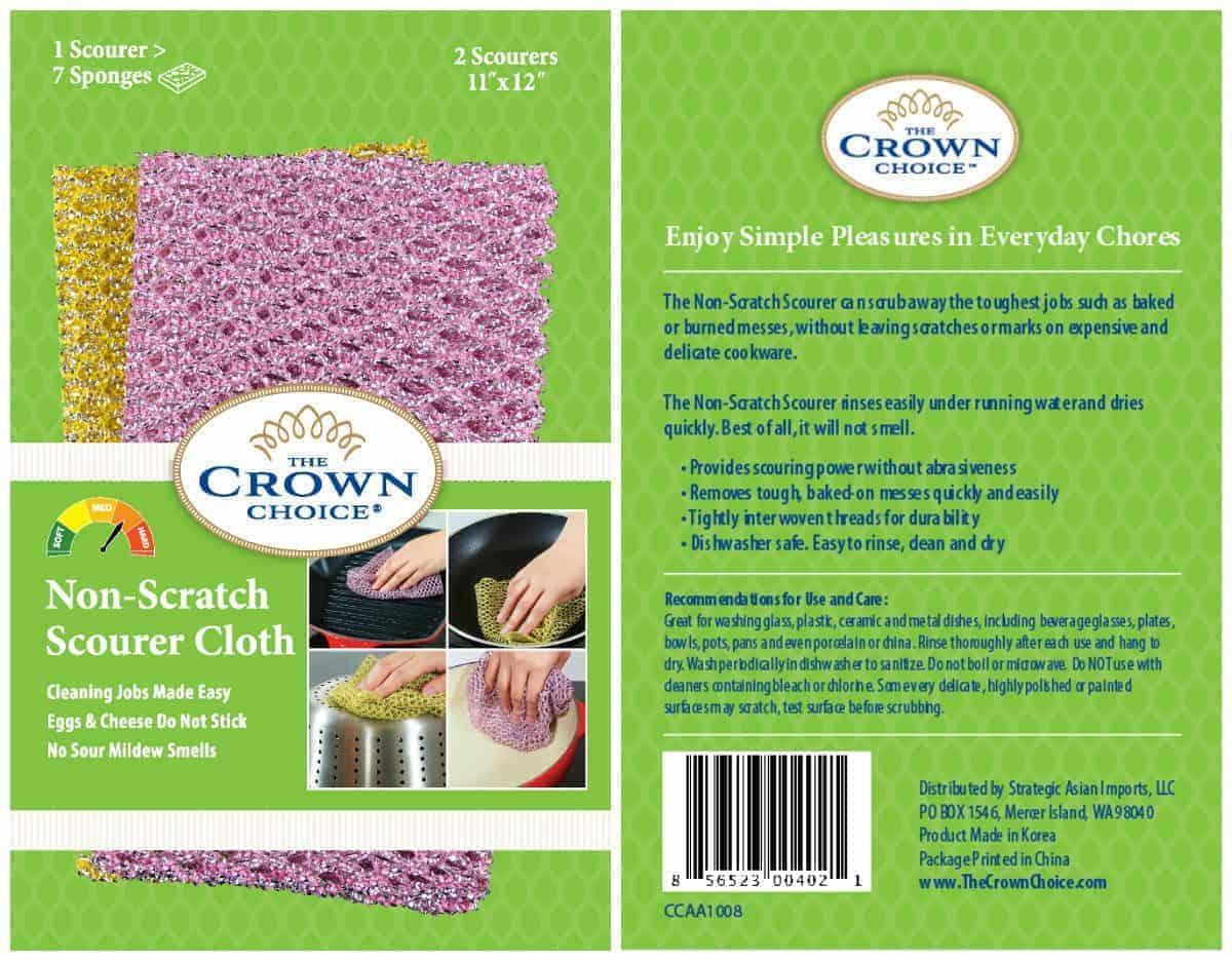 Pot Scrubber - Non-Scratch Heavy Duty Nylon Scrub Cloths 4