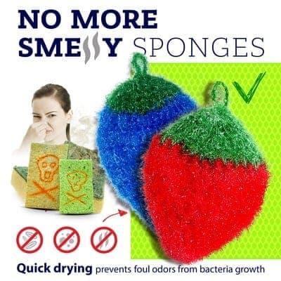 no smell dish scrubbie