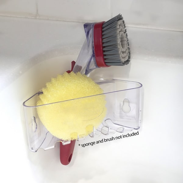 BEST Double Sponge Holder for Sink - Uses Detachable Adhesive 5