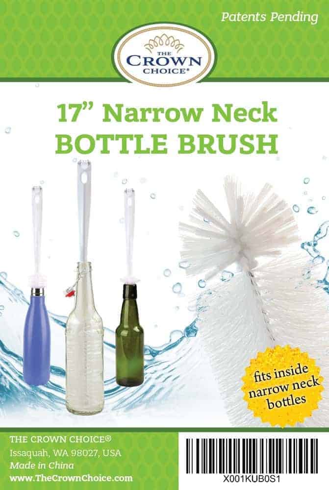 16″ LARGE Water Bottle Cleaning Brush with Cleaning Tip 5