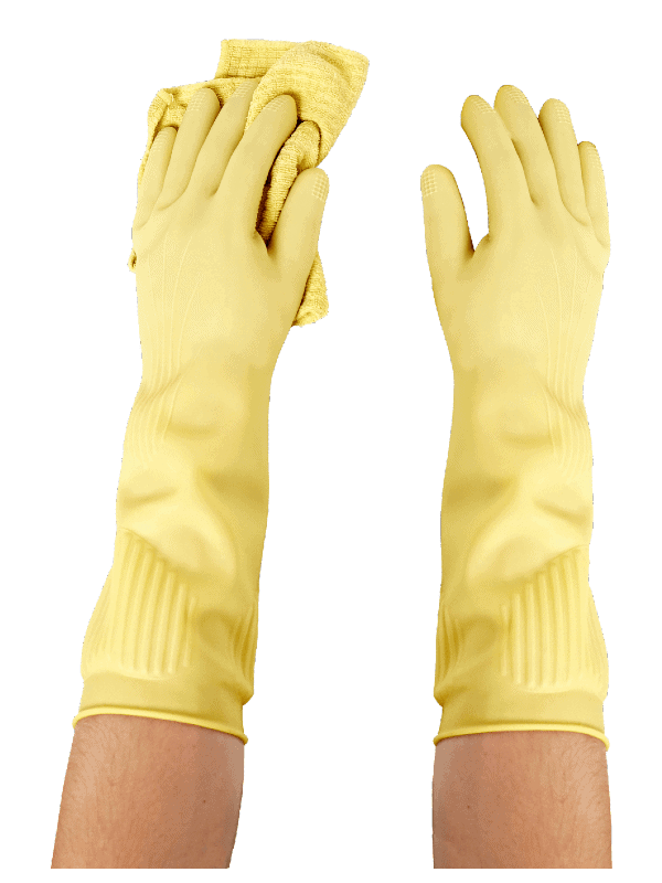 Biodegradable long all purpose gloves (3PK)—Long and Thick All Purpose for Cleaning, Dish Washing and Hand Protection 10