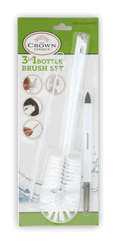 Baby Bottle Cleaner Brush - The best 3-in-1 cleaning set for