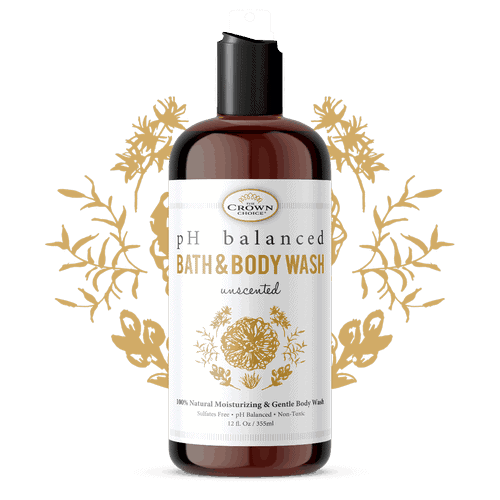 The Crown Choice unscented bath and body wash for sensitive skin