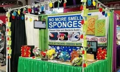 dish scrubbie booth no smell fruit scrubbies