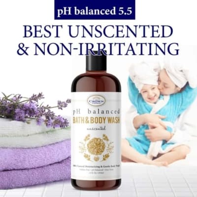 unscented body wash non-irritating