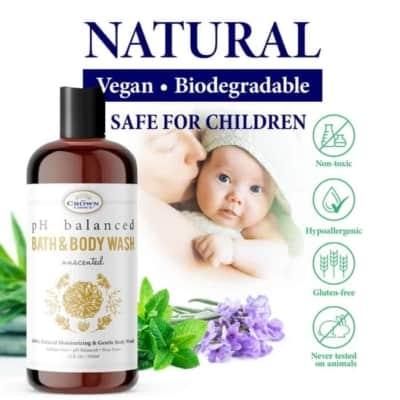 unscented wash safe children