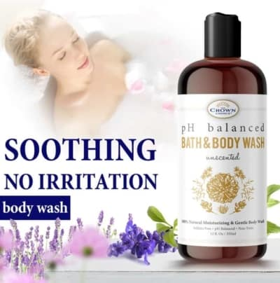 unscented body wash soothing no irritation