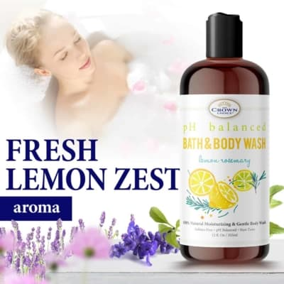 sensitive skin body soap fresh lemon zest