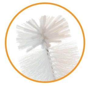 long brush bristles tip