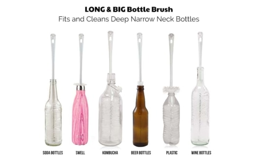 long big bottle brush set for all narrow neck bottles