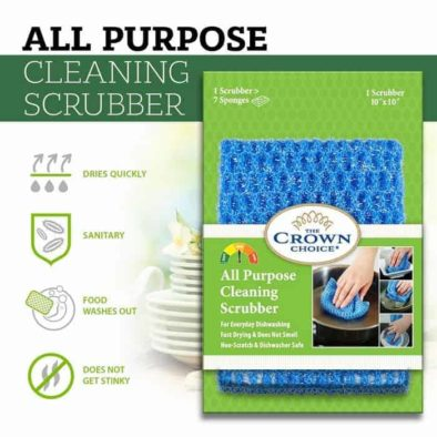 all purpose dish cloth scrubber