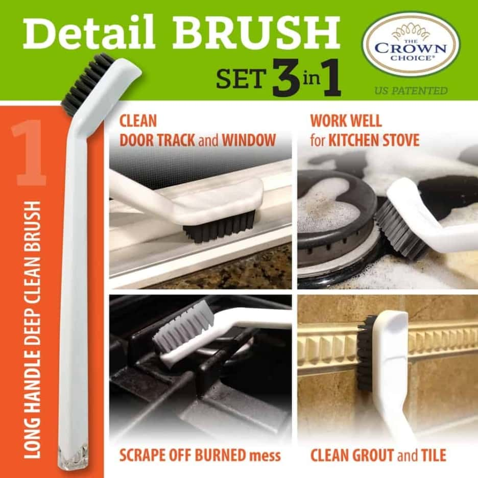 Best tile cleaning brush combo – 4 piece set 7