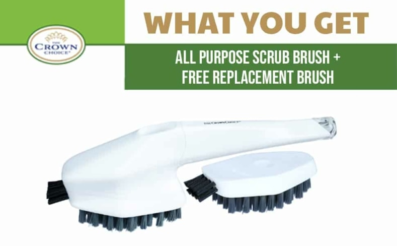 what you get with the bath cleaning brush set