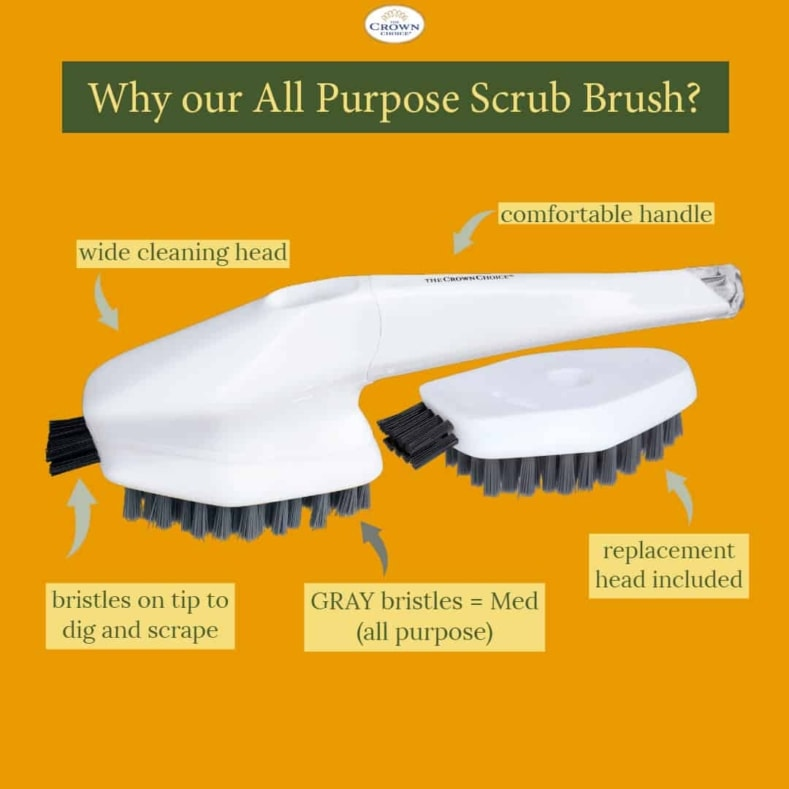 thecrownchoice all purpose scrub brush for bathtub shower sink kitchen faucet
