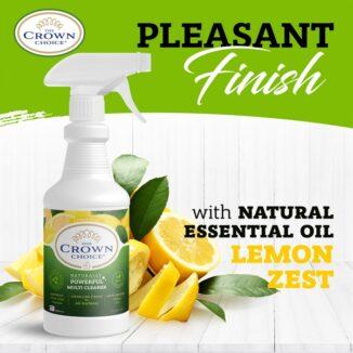 natural multi cleaner spray lemon