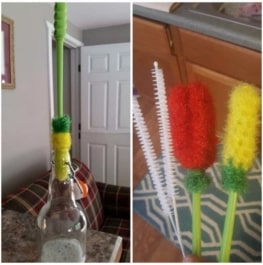 Water Bottle Brush by Dish Scrubbie (3-in-1 Set with Two Straw Brushes) 5