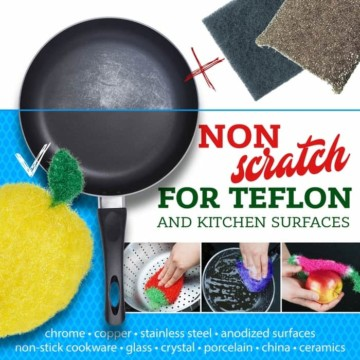 non-scratch safe kitchen sponge alternative dish scrubbie