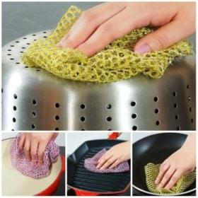 Non-Scratch Scourer - HEAVY DUTY Mesh Scouring & Scrubber Cloths