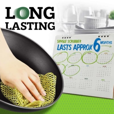 long lasting pot scrubber non-scratch scourer cloth