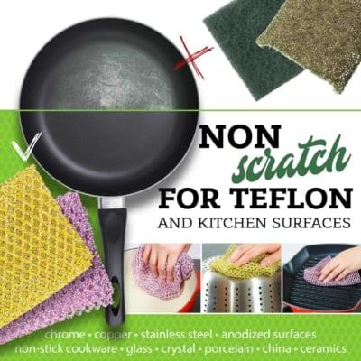 non-scratch pot scouring scrubber cloth