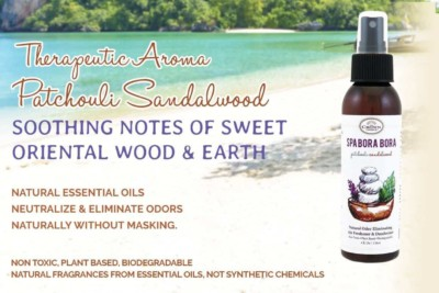 SPA BORA BORA Natural Spray Air Refreshener Essential Oils Based (Patchouli Sandalwood) | NO Phthalate, Fragrance, Chemicals