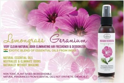 INDIAN VERBENA Natural Air Freshener Spray for Home and Room (Lemongrass Geranium) | Odor Eliminator and Deodorizer Spray
