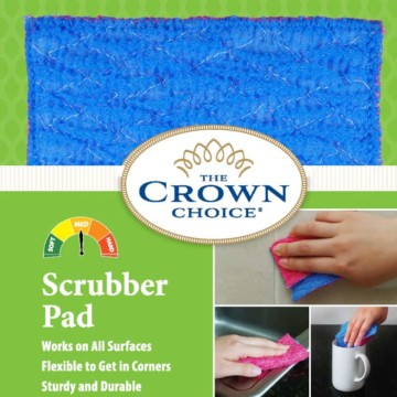 Kitchen Sponge Alternative - Scrubber Pad for Dishwashing, Scrubbing, Cleaning 3