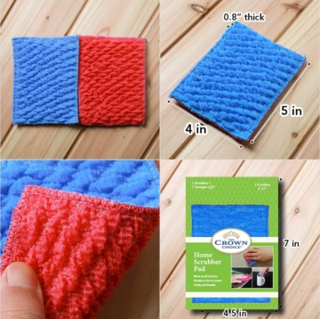home scrubber pad kitchen sponge alternative closeup