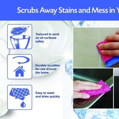 ODOR FREE Scrubber kitchen sponge alternative Pad for Dishwashing, Scrubbing, Cleaning | Scratch Free Scrubber