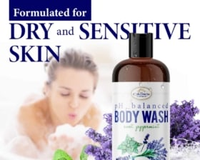 dry sensitive skin body wash