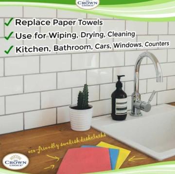 Paper Towel Alternative - Eco-friendly sponge cloth and all purpose cloth set (4 Pcs) 4