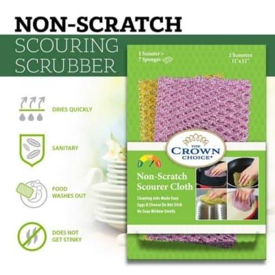 pot scrubber non scratch