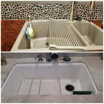 Best Kitchen Sink Caddy - Tidy your sink with this 2-in-1 in brush and kitchen sponge caddy 13