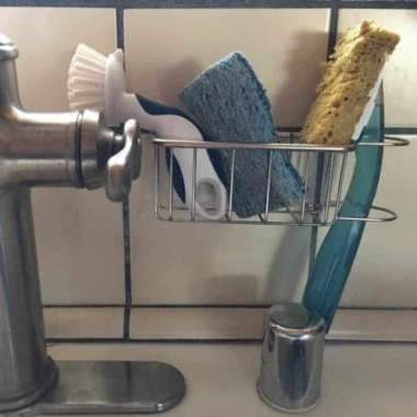 Best Kitchen Sink Caddy - Tidy your sink with this 2-in-1 in brush and kitchen sponge caddy 10