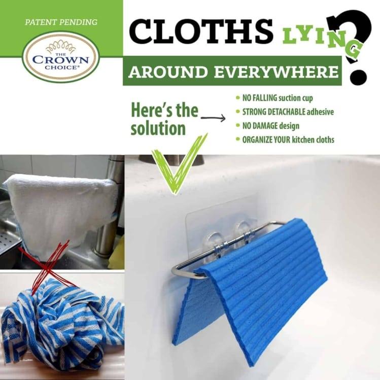 best dishcloth hanger sponge holder