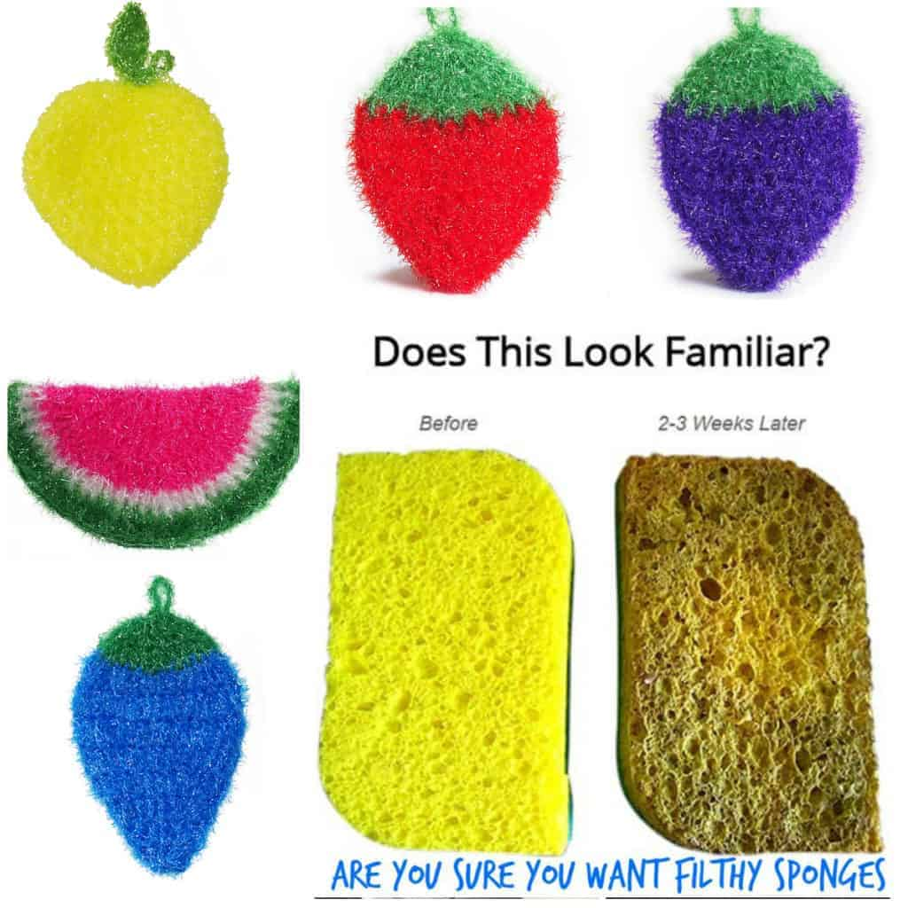 dirty kitchen sponge replacement dish scrubbie or Nylon Netting for Scrubbies