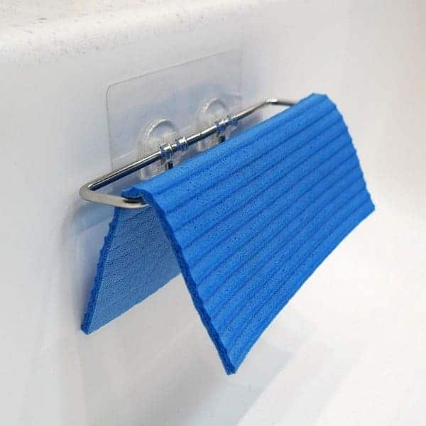 BEST Dish Cloth Holder Caddy for Kitchen Sink | Uses Detachable Adhesive 2