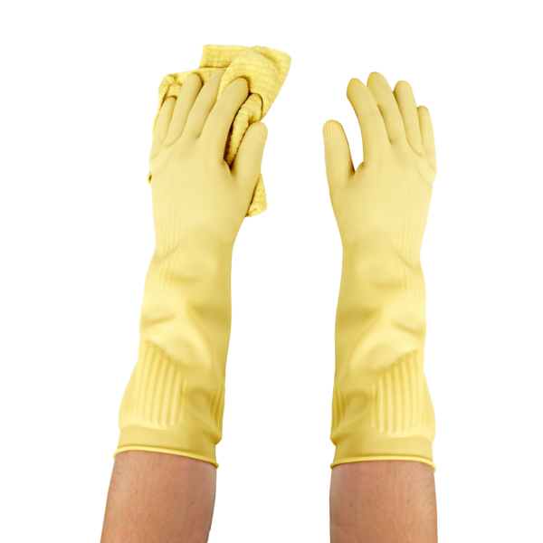 Long Biodegradable Latex Rubber Gloves (1PK) 1