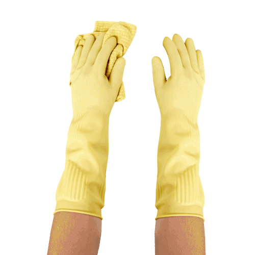 Long Biodegradable Latex Soft Rubber Gloves — Long and Thick All Purpose for Cleaning, Dish Washing and Hand Protection 2