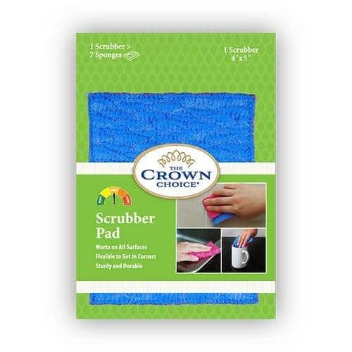 Kitchen Sponge Alternative - Scrubber Pad for Dishwashing, Scrubbing, Cleaning 5