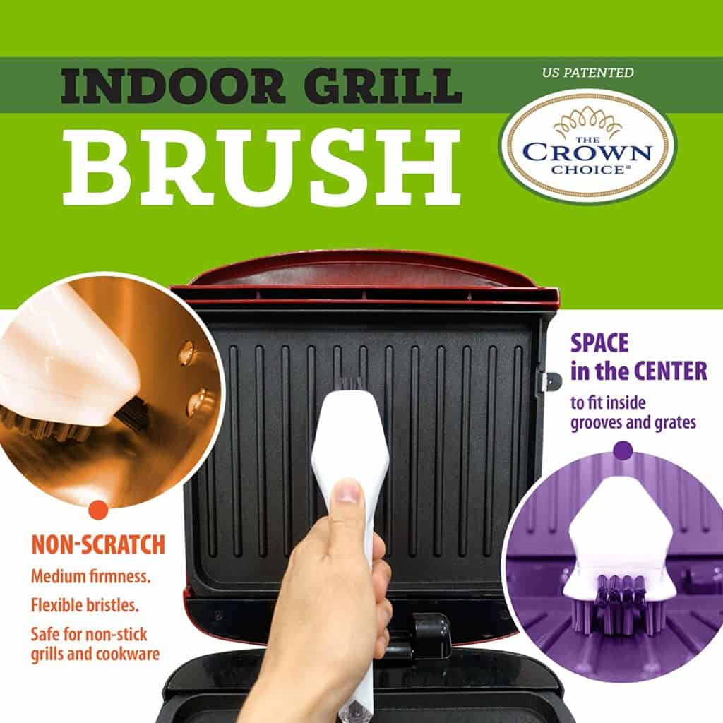 the crown choice - best non sratch cast iron grill brush
