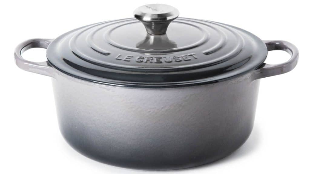 how toclean le creuset with a cast iron grill brush