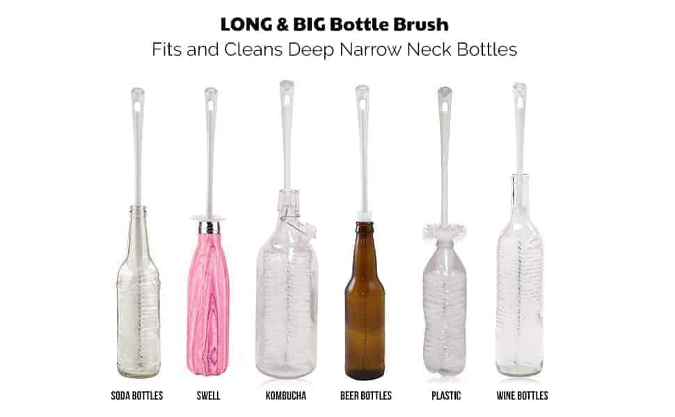long big bottle brush set for all narrow neck bottles