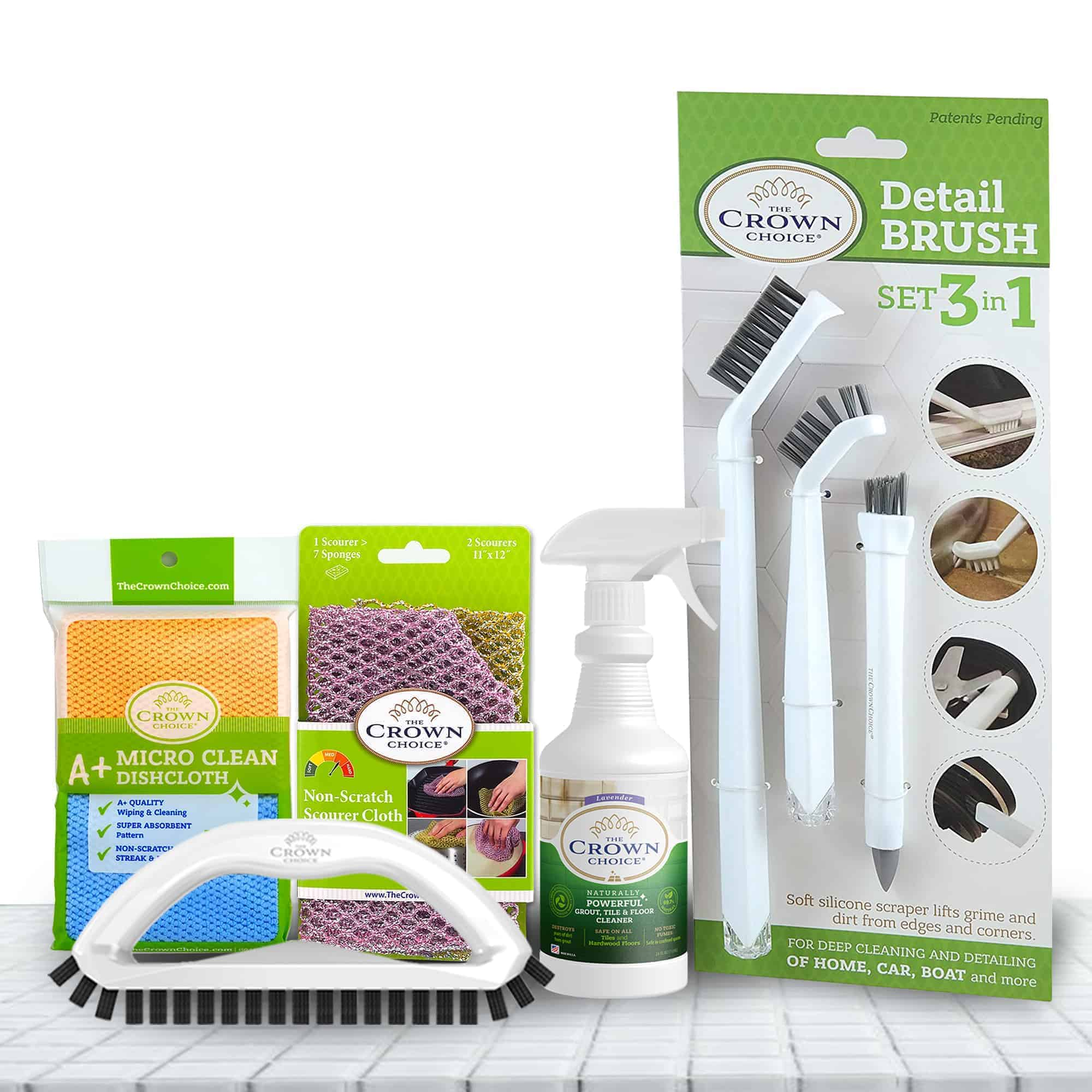The Crown Choice Best Grout Cleaning Tools Bundle 2