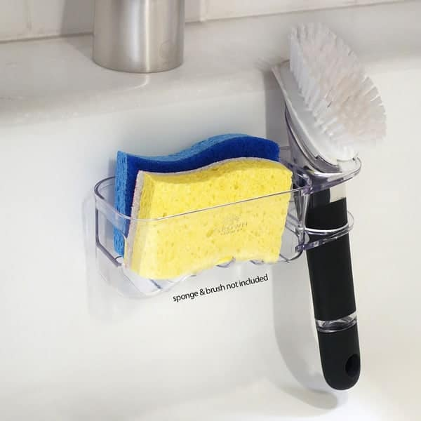 BEST Double Sponge Holder for Sink - Uses Detachable Adhesive 6