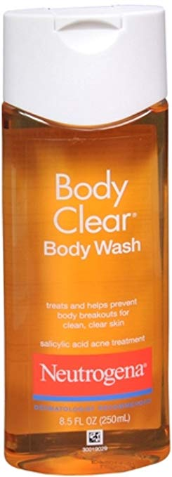 Neutrogena body clear treats and helps prevent breakouts